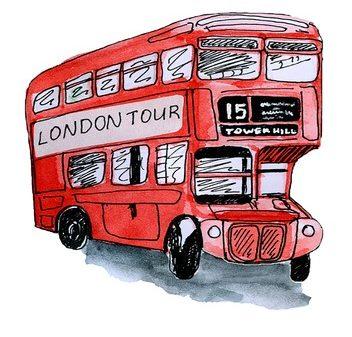 London Tour mit dem roten Doppeldeckerbus
