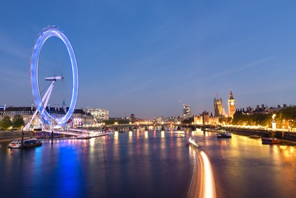 London Eye am Abend