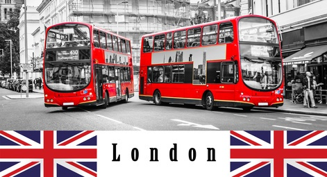 London Reise rote Busse
